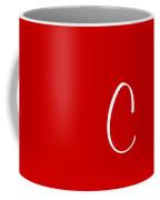 C In White Simple Script Coffee Mug