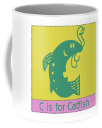 C Is For Catfish Kids Animal Alphabet Coffee Mug