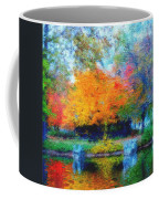 Cabin In Park Coffee Mug