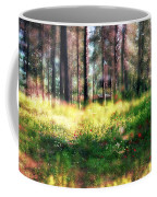Cabin In The Woods In Menashe Forest Coffee Mug