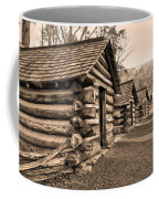 Cabins At Valley Forge In Sepia Coffee Mug
