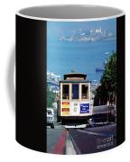 Cable Car 18 Heading Up The Hyde Street Line Coffee Mug