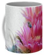 Cactus Flower And A Busy Bee Coffee Mug