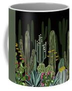 Cactus Garden At Night Coffee Mug
