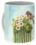 Cactus Wren And Saguaro Coffee Mug