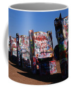 Cadillac Ranch On Route 66 Coffee Mug