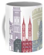 Caen Skyline Poster Coffee Mug