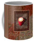 Cafe Au Lait - Coffee Art - Red Coffee Mug