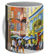 Cafe In The Old Quebec Coffee Mug