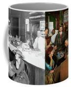 Cafe - Temptations 1915 - Side By Side Coffee Mug