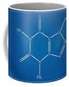 Caffeine Molecular Structure Blueprint Coffee Mug
