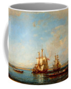 Caiques And Sailboats At The Bosphorus Coffee Mug
