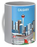 Calgary Alberta Canada Vertical Skyline Coffee Mug