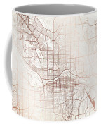 Calgary Street Map Colorful Copper Modern Minimalist Coffee Mug