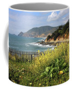 California Coast With Wildflowers And Fence Coffee Mug