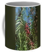 California Pepper Tree Leaves Berries Abstract Coffee Mug