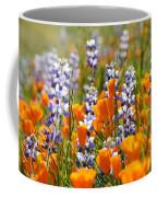California Poppies And Lupine Wildflowers Coffee Mug