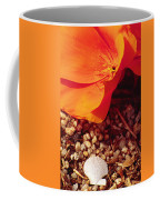 California Poppy And Scallop Shell Coffee Mug