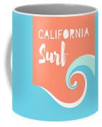 California Surf- Art By Linda Woods Coffee Mug by Linda Woods