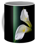 Calla Lily Green Black Coffee Mug