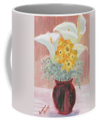 Callas, Daffys, And Dusty Miller Coffee Mug