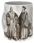 Calvin And Servetus Before The Council Of Geneva Coffee Mug