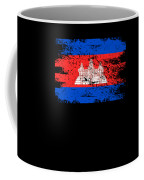 Cambodia Shirt Gift Country Flag Patriotic Travel Asia Light Coffee Mug