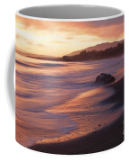 Cambria Coastline With Shimmering Sunset Color Coffee Mug