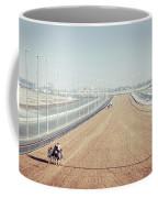 Camel Racing Track In Dubai Coffee Mug