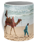 Camel Ride On Beach Coffee Mug