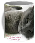 Resting Face Coffee Mug by Debbie Cundy