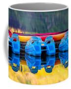 Cameron Lake Paddle Boats Coffee Mug