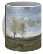 Camille Corot   A Wagon In The Plains Of Artois Coffee Mug