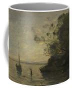 Camille Corot   Evening On The Lake Coffee Mug