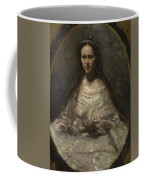 Camille Corot   Sketch Of A Woman In Bridal Dress Coffee Mug