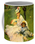 Camille Monet And Her Son Jean In The Garden At Argenteuil 1874 Coffee Mug