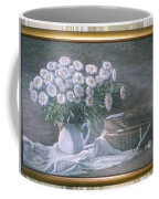 Camomile In The Pot And Busket With Pearls  Coffee Mug