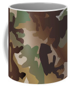 Camouflage Pattern Background  Clothing Print, Repeatable Camo G Coffee Mug