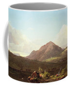 Camp Fire In The Maine Wilderness Coffee Mug