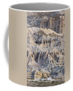 Campers And Eroded Cliffs At Ricardo Coffee Mug