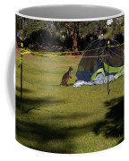 Camping With Swamp Wallaby Coffee Mug