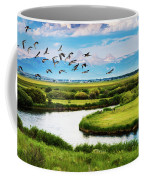 Canada Geese Entering Idaho's Teton Valley Coffee Mug