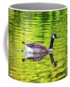Canada Goose Swimming In A Pond Coffee Mug