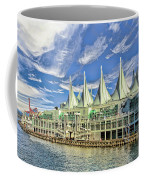 Canada Place - Waterfront In Vancouver Canada Coffee Mug by Ola Allen
