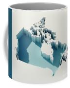 Canada Simple Intrusion Map 3d Render Coffee Mug