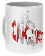 Canada Typographic Map Flag Coffee Mug