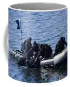 Canadian Divers Being Helped Aboard Coffee Mug