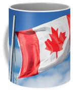 Canadian Flag Flying Proudly Coffee Mug