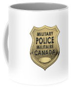 Canadian Forces Military Police C F M P  -  M P Officer Id Badge Over White Leather Coffee Mug