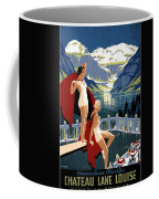Canadian Pacific - Chateau Lake Louise - Canadian Rockies - Retro Travel Poster - Vintage Poster Coffee Mug